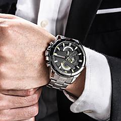 ieftine Ceasuri Militare-Bărbați Ceas de Mână Japoneză 30 m Rezistent la Apă Calendar Creative Oțel inoxidabil Bandă Analog Charm Lux Casual Negru / Argint / Auriu - Argintiu Negru / Roșu Negru / Alb