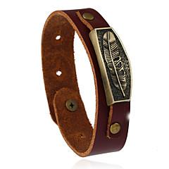 preiswerte Armbänder-Lederarmbänder - Leder Retro, Modisch Armbänder Braun Für Hochzeit Party Sport