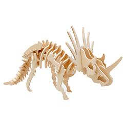 voordelige -Muwanzi 3D-puzzels Legpuzzel Houten modellen Dinosaurus Vliegtuig Beroemd gebouw Architectuur 3D DHZ Hout Klassiek Unisex Geschenk