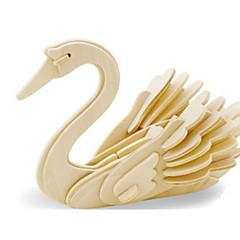 رخيصةأون -قطع تركيب3D تركيب النماذج الخشبية ديناصور طيارة بجعة اصنع بنفسك خشبي خشب كلاسيكي للأطفال للجنسين هدية