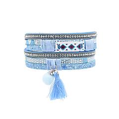preiswerte Armbänder-Damen Quaste Lederarmbänder - Leder Retro, Böhmische, Modisch Armbänder Rot / Rosa / Hellblau Für Hochzeit / Jahrestag / Geburtstag