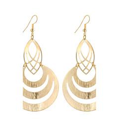 preiswerte Ohrringe-Damen Tropfen-Ohrringe - versilbert, vergoldet Einzigartiges Design, Anhänger Stil, Retro Gold / Silber Für Weihnachts Geschenke / Hochzeit / Party