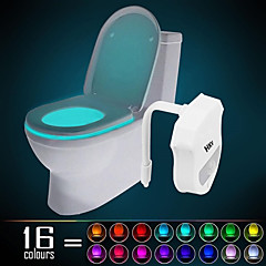 cheap LED Novelty Lights-HKV® 1PCS  IP65 16 Colors Motion Activated Toilet Night light Fit Any Toilet-Water-resistant Bathroom Night Light Easy Clean -For Midnight Convenie