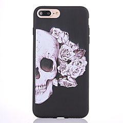 Voor iPhone 8 iPhone 8 Plus Hoesje cover Mat Patroon Achterkantje hoesje Doodskoppen Zacht TPU voor Apple iPhone 7s Plus iPhone 8 iPhone