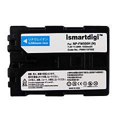 Ismartdigi fm500h 7.2v 1650mah akkumulátor akku sony dslr-a77 a100 a200 a350 a450 a550