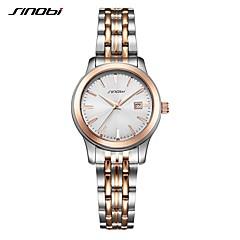 preiswerte Tolle Angebote auf Uhren-SINOBI Damen Armbanduhr Japanisch Schockresistent Edelstahl Band Luxus / Freizeit Silber / Zwei jahr / Sony SR626SW