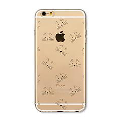 Недорогие Кейсы для iPhone 6 Plus-Кейс для Назначение Apple iPhone X iPhone 8 Plus Прозрачный С узором Кейс на заднюю панель Кот Мультипликация Мягкий ТПУ для iPhone X