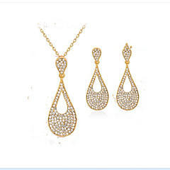 cheap Jewelry Sets-Women's Synthetic Diamond Jewelry Set - Gold Plated Drop Ladies, Fashion, Euramerican Include Bridal Jewelry Sets Gold For Party Event / Party Dailywear