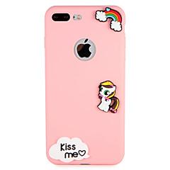 Case for apple iphone 7 plus 7 обложка обложка задняя крышка футляр фразу декорации 3d мультфильм мягкий силикон 6 с плюс 6 плюс 6 6s 5 5s