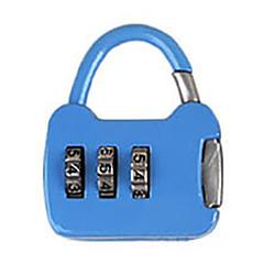 Andere zinklegering wachtwoord hangslot 3 cijfer wachtwoord notebook klein wachtwoord slot mini zak slot metaal koffer doos zak dail lock
