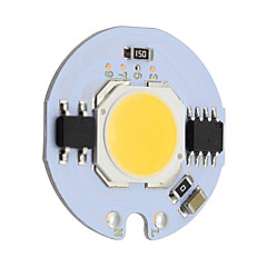 billige LED-9w rund cob led chip smart ic ac 220v til diy loft lys downlight spotlight varm / kold hvid (1 stk)