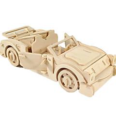رخيصةأون -لعبة سيارات قطع تركيب3D تركيب النماذج الخشبية طيارة سيارة 3D اصنع بنفسك خشب كلاسيكي صبيان للجنسين هدية