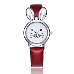 preiswerte Damenuhren-Damen Quartz Armbanduhr Chinesisch Armbanduhren für den Alltag PU Band Kreativ Einzigartige kreative Uhr Elegant Modisch Schwarz Weiß Rot