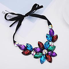 preiswerte Halsketten-Damen Halsketten - Blume Schwarz, Regenbogen, Hellblau Modische Halsketten Schmuck Für Einkauf, Alltagskleidung