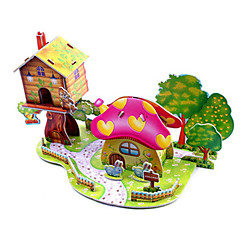 رخيصةأون -قطع تركيب3D تركيب مجموعات البناء بناء مشهور بيت اصنع بنفسك ورق صلب كلاسيكي أنيمي كرتون للأطفال للجنسين هدية