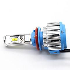 Недорогие Автомобильные фары-H11 / H8 Автомобиль Лампы 35 W Высокомощный LED 7000 lm Налобный фонарь