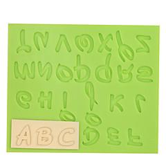 pienikokoinen kirjain silikoni fondantti muotokakku koriste työkalut suklaa ramdon väri