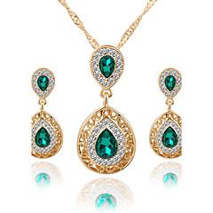 Women's Jewelry Set Necklace/Earrings Bridal Jewelry Sets Crystal Rhinestone Dangling Style Pendant Rhinestone Euramerican Luxury Bridal