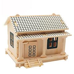 voordelige -3D-puzzels Legpuzzel Houten modellen Vliegtuig Beroemd gebouw Huis DHZ Kaart Papier Hout Klassiek Kinderen Unisex Geschenk