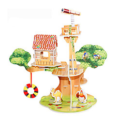 voordelige -3D-puzzels Legpuzzel Modelbouwsets Beroemd gebouw Huis DHZ Hard Kaart Paper Klassiek Anime Cartoon Kinderen Unisex Geschenk
