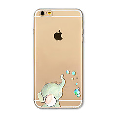 Недорогие Кейсы для iPhone 6-Кейс для Назначение Apple iPhone X iPhone 8 Plus Прозрачный С узором Кейс на заднюю панель Слон Мягкий ТПУ для iPhone X iPhone 8 Pluss