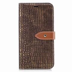 Недорогие Чехлы и кейсы для LG-Кейс для Назначение LG K8 LG LG K7 Бумажник для карт Кошелек Флип Магнитный Чехол Сплошной цвет Твердый Кожа PU для LG K10 (2017) LG K8