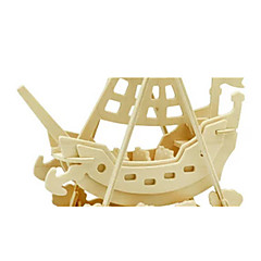voordelige -3D-puzzels Legpuzzel Houten modellen Dinosaurus Vliegtuig Schip 3D DHZ Puinen Hout Klassiek Piraat Unisex Geschenk