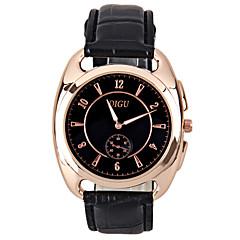preiswerte Herrenuhren-Herrn Modeuhr / Einzigartige kreative Uhr / Simulierter Diamant Uhr Chinesisch Imitation Diamant Metall Band Glanz Schwarz / Braun