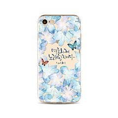 Чехол для iphone 7 плюс 7 обложка прозрачный узор задняя крышка чехол слово / фраза бабочка мягкая tpu для яблока iphone 6s плюс 6 плюс 6s