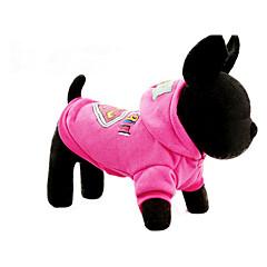 お買い得  犬用ウェア&アクセサリー-犬 パーカー 犬用ウェア カートゥン フクシャ / ブルー コットン コスチューム ペット用 カジュアル/普段着