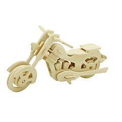 رخيصةأون -قطع تركيب3D تركيب النماذج الخشبية ديناصور طيارة الدراجات النارية 3D اصنع بنفسك خشبي خشب كلاسيكي دراجة نارية للجنسين هدية