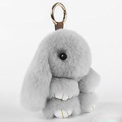 バッグ/電話/キーホルダーチャーム漫画おもちゃのレックスウサギ毛皮の携帯電話の魅力