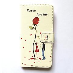 Недорогие Кейсы для iPhone 6 Plus-Кейс для Назначение iPhone 6s Plus iPhone 6 Plus Apple Бумажник для карт Кошелек со стендом Флип С узором Чехол Цветы Твердый Кожа PU для