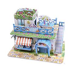 voordelige -3D-puzzels Legpuzzel Bouwplaat Modelbouwsets Huis Architectuur 3D DHZ Korkealaatuinen paperi Klassiek 6 jaar en ouder