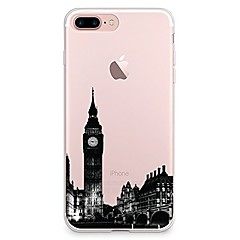 Til iPhone X iPhone 8 Etuier Transparent Mønster Bagcover Etui Byudsigt Blødt TPU for Apple iPhone X iPhone 8 Plus iPhone 8 iPhone 7 Plus