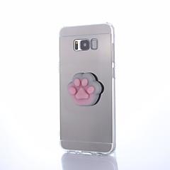 olcso Galaxy S3 tokok-Case Kompatibilitás Samsung Galaxy S8 Plus S8 Tükör pépes DIY Fekete tok Cica Tömör szín 3D figura Kemény PC mert S8 Plus S8 S7 edge S7