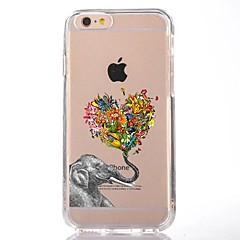 Недорогие Кейсы для iPhone 7 Plus-Кейс для Назначение Apple iPhone 7 Plus iPhone 7 Прозрачный С узором Кейс на заднюю панель С сердцем Слон Мягкий ТПУ для iPhone 7 Plus