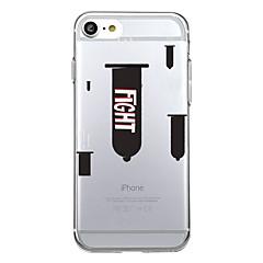 Для iphone 7plus чехол чехол прозрачный узор задняя крышка чехол сердце геометрический узор боевые пособия мягкий tpu для iphone 7 6splus