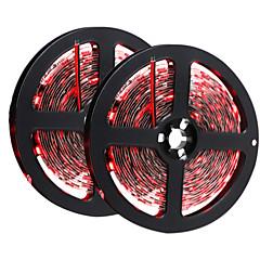 HKV® 10(2x5M) 72W 300 LED 5050 SMD Yellow Green Red LED Strip Black NO-Waterproof Led Flexible Light Flexible Strip DC 12V 1PCS