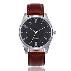 お買い得  メンズ腕時計-男性用 クォーツ リストウォッチ 中国 レザー バンド カジュアル Elegant ファッション ブラック ブラウン