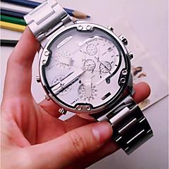 preiswerte Herrenuhren-Herrn Armbanduhr Chinesisch Kalender / Kreativ / Großes Ziffernblatt Edelstahl Band Charme / Luxus / Freizeit Schwarz / Gold