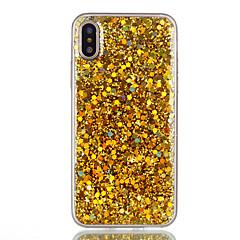 Voor iPhone X iPhone 8 iPhone 8 Plus Hoesje cover Patroon Achterkantje hoesje Effen Kleur Glitterglans Zacht TPU voor Apple iPhone X