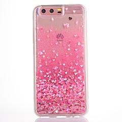 Kotelo huawei p10 plus p10 kotelokotelo sydän kuvio virtaava neste glitter pehmeä tpu materia puhelin tapauksessa kunnia v9