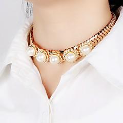 preiswerte Halsketten-Damen Synthetischer Diamant Geometrisch Halsketten / Statement Ketten - Prinzessin Personalisiert, Einzigartiges Design, Klassisch Weiß Modische Halsketten Für Weihnachts Geschenke, Hochzeit, Party