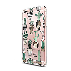 Veske til iPhone 7 6 tre tpu mykt ultra-tynt bakdeksel case cover iphone 7 pluss 6 6s pluss se 5s 5 5c 4s 4