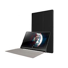 お買い得  タブレット用ケース-ケース 用途 Lenovo IdeaPad / Lenovo フルボディケース / スタンド付き フルボディーケース ソリッド ハード PUレザー のために
