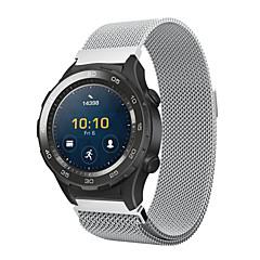 Недорогие Смарт-часы Аксессуары-Ремешок для часов для Huawei Watch 2 Huawei Миланский ремешок Нержавеющая сталь Повязка на запястье
