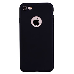 Недорогие Кейсы для iPhone 5-Кейс для Назначение Apple iPhone 7 Plus iPhone 7 Матовое Кейс на заднюю панель Сплошной цвет Мягкий ТПУ для iPhone 7 Plus iPhone 7 iPhone
