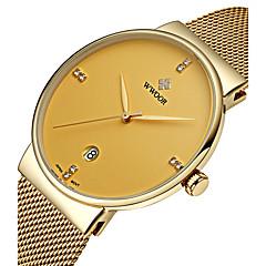 preiswerte Damenuhren-WWOOR Herrn Quartz Armbanduhr Kalender Legierung Band Luxus Kleideruhr Modisch Mehrfarbig
