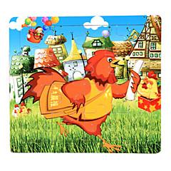 Bildungsspielsachen Holzpuzzle Spielzeuge Hühnchen Meerestier Tiere Unisex Stücke